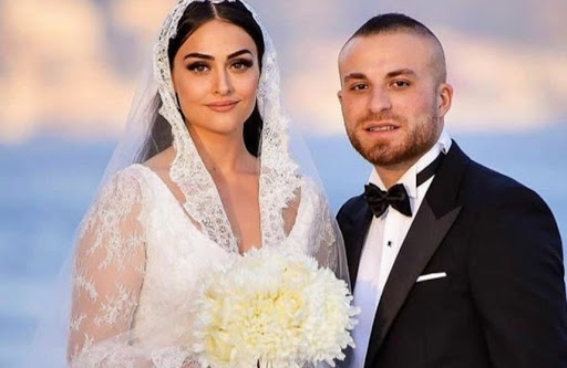 Esra with her husband