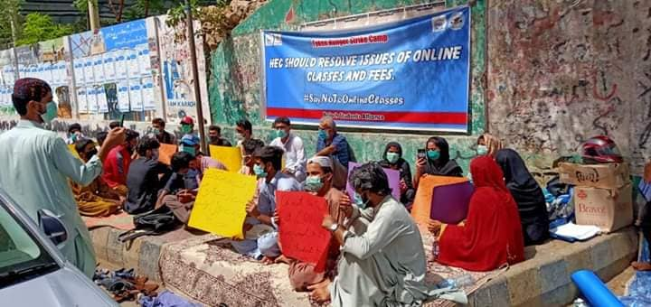 Protest against online